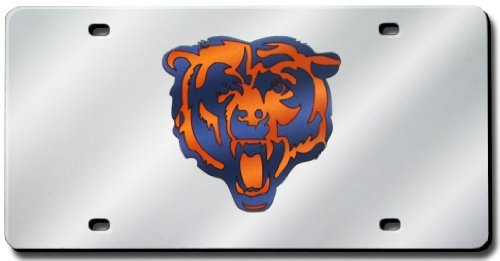 - Rico Industries Chicago Bears Laser Cut Silver License Plate