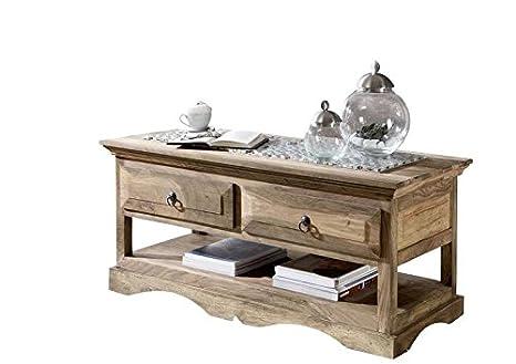 Mobili in legno massello palissandro oleato grigio tavolino da