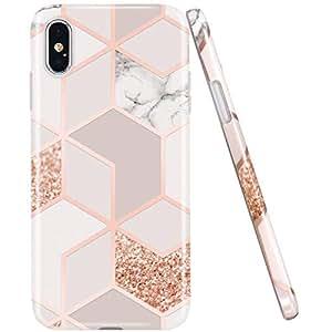 Amazon.com: JAHOLAN Bling Marble - Carcasa de silicona y TPU ...