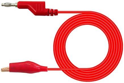 500 V 5 Pezzi Aofan 5 A Cavo per Test Elettrico da Laboratorio 1 m 4 mm 5 Colori