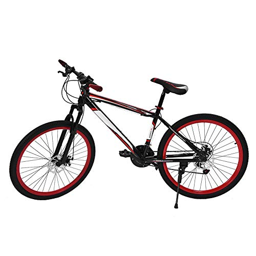 (Zerone Mountain Bike, 26 Inch 21 Speed Dual Disc Brake Damping Mountain Shifting Speed Bicycle for Game Camping Compitition Adults Teenagers Boys Girls)