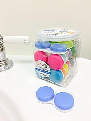 LensAlert Contact Lens Cases - 12 cute colors (12 cases - each a different color)