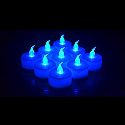 24 Pack LED Tea lights Candles – Flickering Flameless Tealight Candle – Long Lasting Battery Operated Fake Candles – Decoration for Wedding, Party, and Festival Celebration