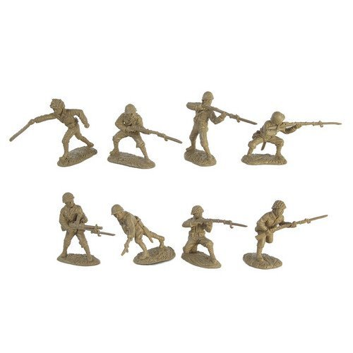 (WWII Japanese Infantry Plastic Army Men: 16 piece set of 54mm Figures - 1:32 scale )