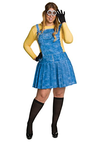 Overall Costumes Women (Rubie's Women's Minion Plus Size Costume, Multi, One Size)