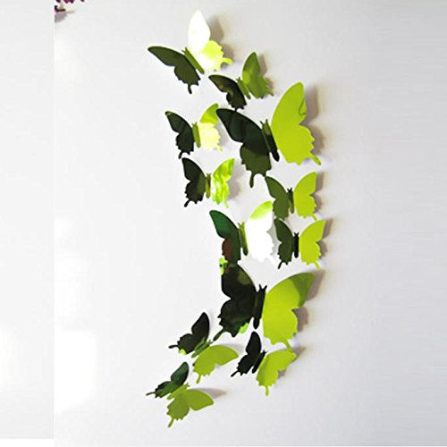 Home Decors,Wall Stickers Decal Butterflies 3D Mirror Wall Art Room Decorated