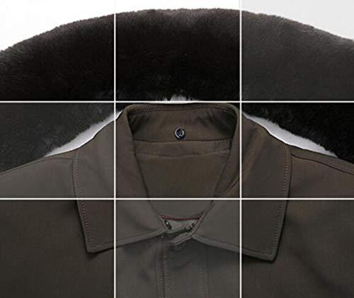 Imbottita Cotone Maniche In Xxxl Da Età Lunghe A Brown Dimensioni Uomo Mezza Imbottito colore Di Giacca Zjexjj Uomo 5qUfq