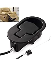 Recliner Replacement Parts - Universal Black Metal Pull Recliner Handle with Cable - fits Ashley and Major Recliner Brands Couch Style Pull Chair Release Handle for Sofa