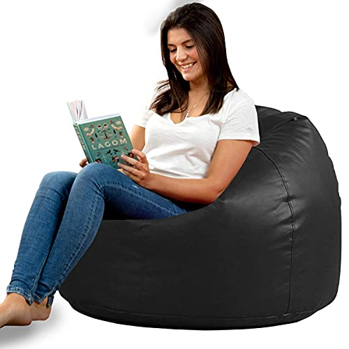 Aart Store XXL Bean Chair Cover with Beans Black