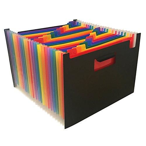 Wilson Jones P4943 Archivo Expandible Hasta 40 cm, 24 Divisiones de Colores