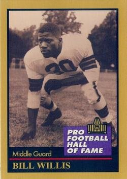 Bill Willis football card (Cleveland Browns) 1991 Enor #151 Pro Football Hall of Fame Guard (Enor Card 1991)