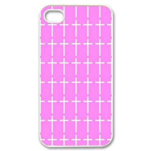 Christian Jesus Cross Lovely Pink Case Cover for iPhone 4 4S