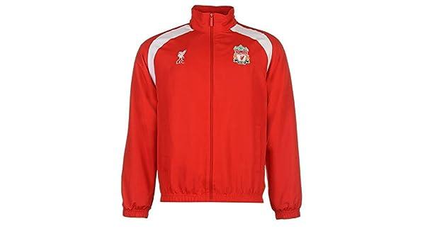 Escudo del Liverpool para hombre Chaqueta de chándal rojo de balón ...