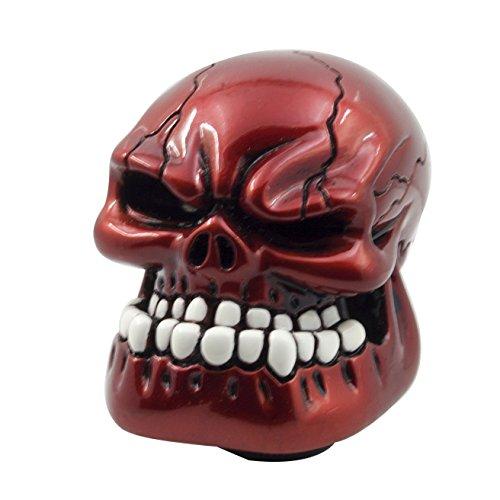 Mavota Red Skull Manual Automatic Gear Shift Knobs (Gear Shift Knob Red)