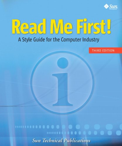 Download Read Me First! A Style Guide for the Computer Industry (3rd Edition) Pdf