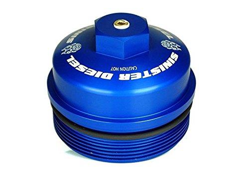 SINISTER DIESEL BILLET BLUE CAP KIT FOR FORD POWERSTROKE 2003-2007 6.0L