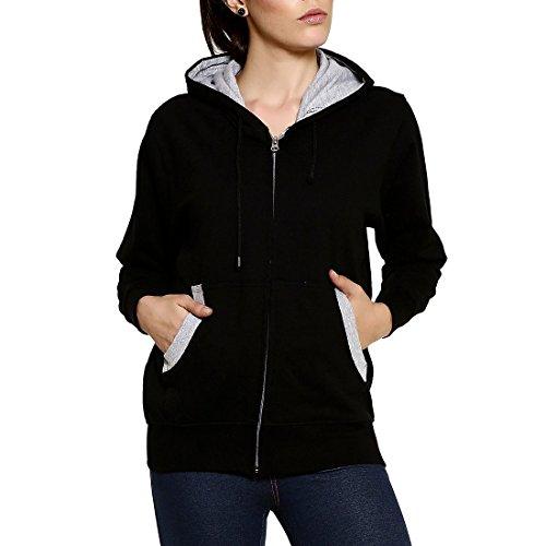 GOODTRY Women's Cotton Hoodies-Black