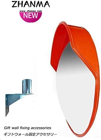 カーブミラー セキュリティ曲面ミラー、180°多く使用するための角度、道路交通安全Assitant鏡を見ると、取付金具を送ります RGJ4-11 (Size : 600mm)