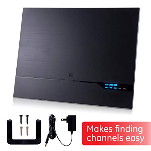 TV Channel Finder, Digital Amplified Indoor HD TV Antenna, Amplified Signal Booster Support 4K 1080P UHF VHF HDTV Channels, 10ft Coaxial Cable, 40529
