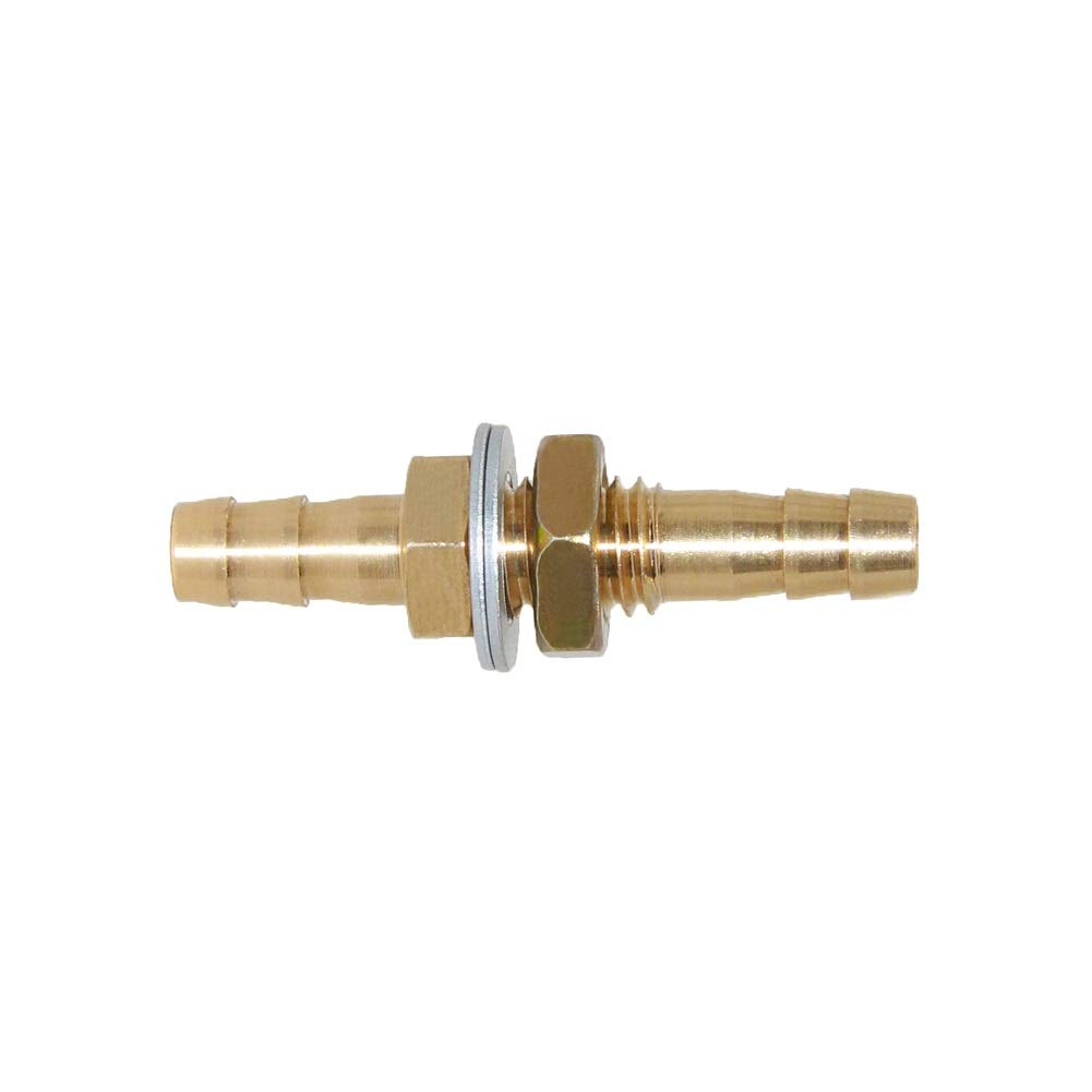 Joyway 1//2 Large ID Hose Barb Thru-Bulk Head Hex Union Brass Fitting Water//Fuel//Air