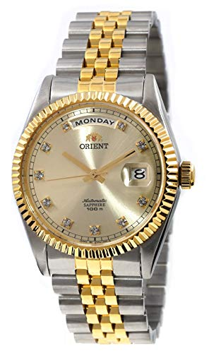ORIENT 'President' Classic Automatic Sapphire Watch Two Tone Gold EV0J002C