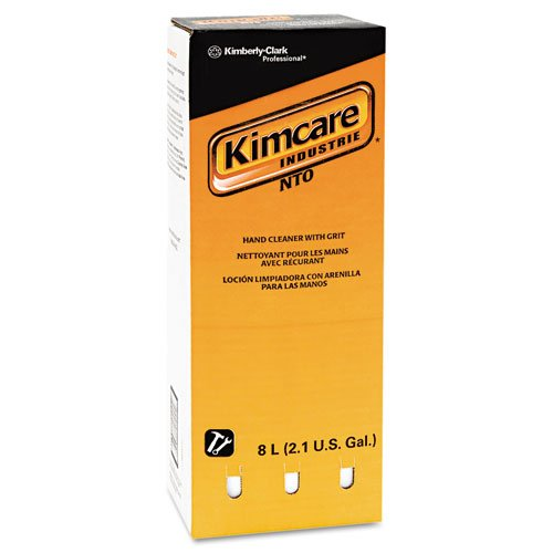 KIMBERLY-CLARK PROFESSIONAL* KIMCARE INDUSTRIE NTO Hand Cleaner w/Grit, Orange, 8L, Bag In Box - Includes two per case.