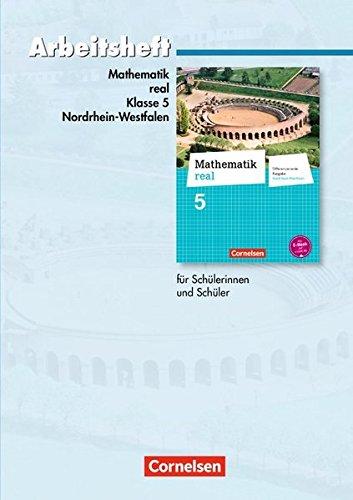 Mathematik real - Differenzierende Ausgabe Nordrhein-Westfalen: 5. Schuljahr - Arbeitsheft mit eingelegten Lösungen