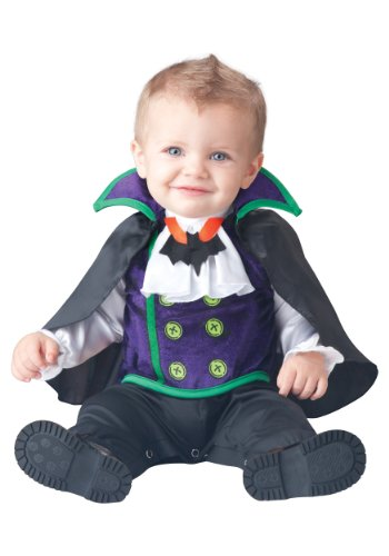 Fun World Baby Boys' Count Cutie Vampire Costume, Black/Purple, (The Count Costumes)