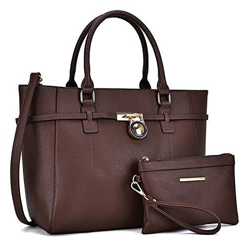 Handbags for Women Tote Bag Shoulder Bag Top Handle Satchel Hobo Purse 2pcs w/Padlock ()