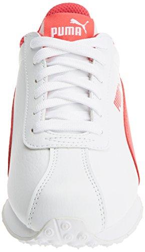 Puma Turin Jr, Zapatillas Unisex Niños Blanco (Puma White-paradise Pink)