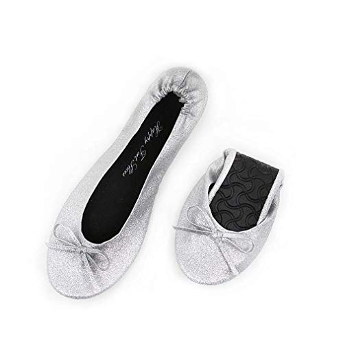 Bag FeetHfp01 With New And Sparkle Silver Ballet Happy Box donna Gift xwg0qOOR