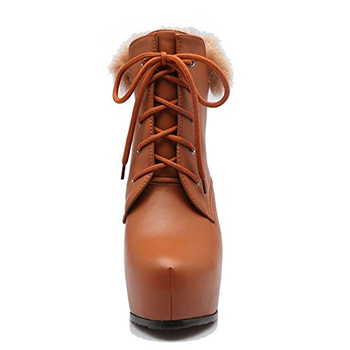 Booties KemeKiss Stiletto Warm Women Brown rrxAEaBwq