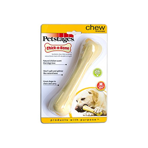 Hard Chew Toy Dog Bone (Chick-a-Bone Chicken Flavored Dog Chew Toy, Medium)