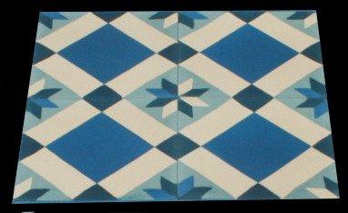 4 cemento piastrelle a forma di stella 162 4 motivo a mosaico
