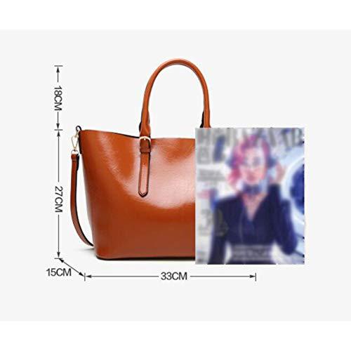 Per Con Borsa Tracolla Sapphireblue In Pu Pelle Bag Donna A Shopping Grande UqaUX