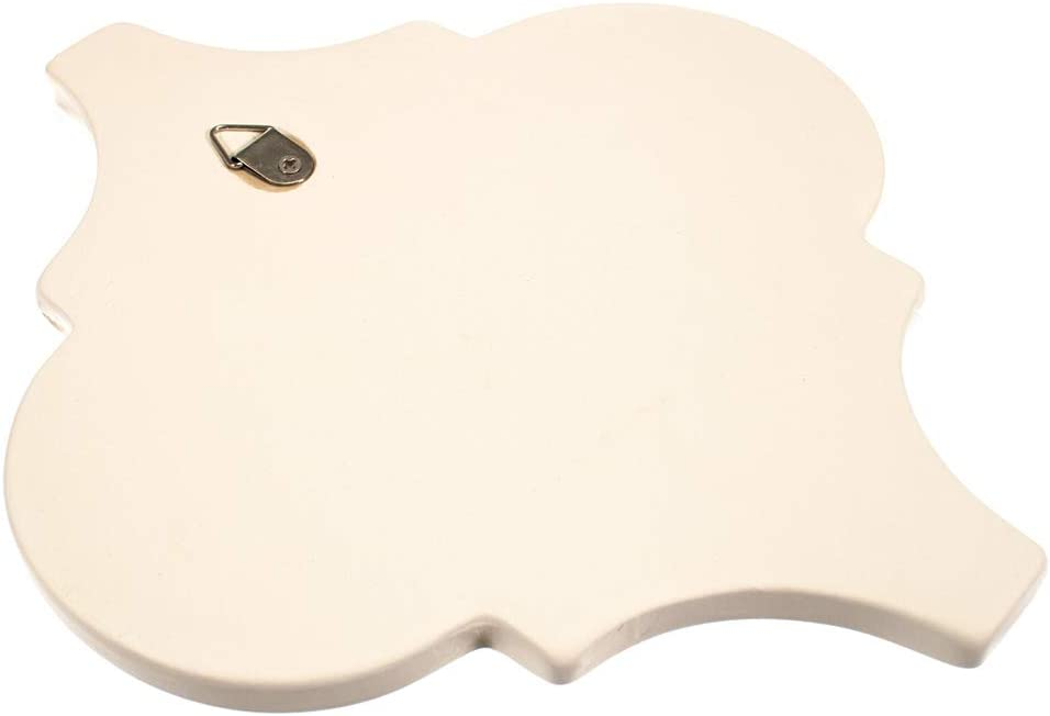 Varnishes and More Quatrefoil Shape Ideal for Crafting Projects and Home Decorations Unfinished Design Ready to Personalize with Paints Inks West Coast Paracord Ceramic Plaque