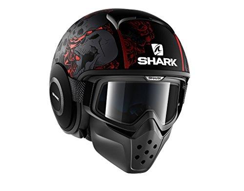 SHARK RAW/Drak Sanctus mate, color negro y rojo, Negro, Rojo