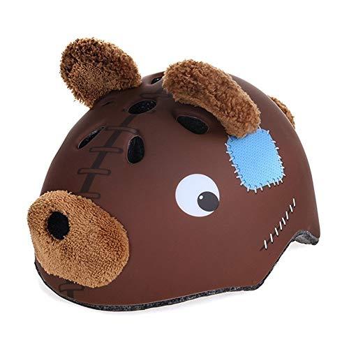 (shuangjishan Toddler Helmet for Cycling,Biking, Scooter Roller 54-58cm for Big Head Youth Bear Bike Helmet)