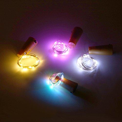 Lights 20 Battery PVS Shape Colorful String LED Cork Bottle HeWE2Y9IbD