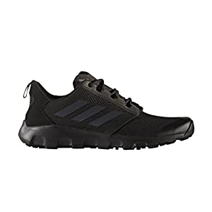 adidas Outdoor Men's Terrex Voyager DLX Athletic Water Sandal, Black/Vista Grey/Black, 10 M US