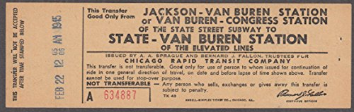 Chicago Rapid Transit State St Subway transfer to State-Van Buren Elevated 1945
