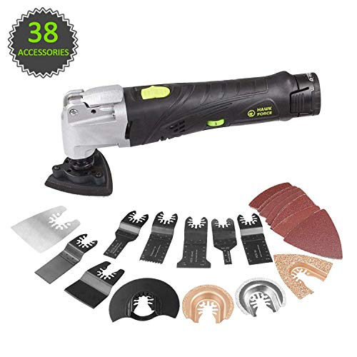 HAWKFORCE 12V MAX Cordless Multi-Purpose Oscillating Tool with 6 Variable Speeds