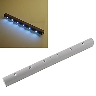 Wireless Motion Sensor 6 LED Battery Powered Wall Night Light Home Modern Lamp