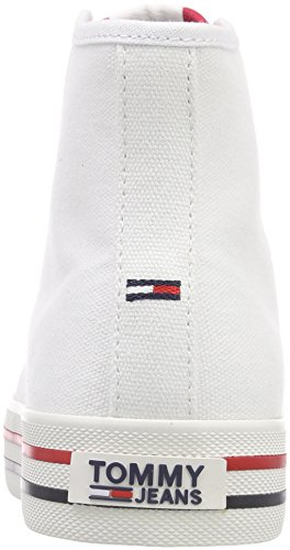Weiß Rwb Mid Sneaker Denim Tommy Hilfiger Damen 020 Cut Jeans Casual Hohe zZTfqR