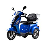 LU-500W Mobility Electric Recreational Outdoors Scooter 48V20AH with Three Speeds, 14/22/32kmph - Blue