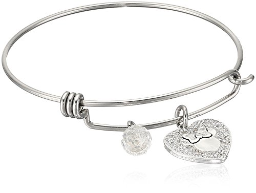Disney Stainless Steel Adjustable with Silver Plated Crystal