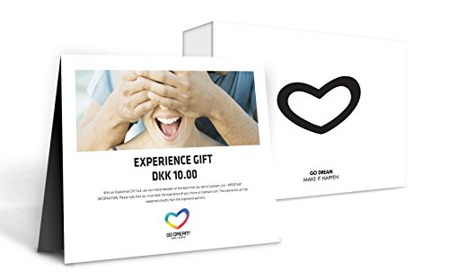 GO DREAM Open Experience Gift card - Get Access to More Than 150 Experience Gifts Within New York Area - Sent in a Gift Package (50)