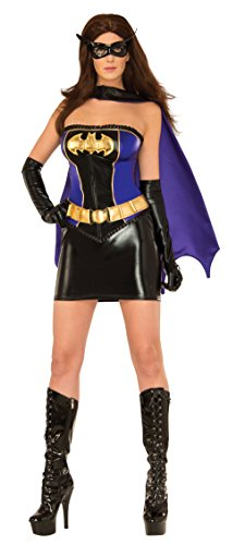 Deluxe Costumes Adult Batgirl (DC Comics Batgirl Deluxe Costume, Black/Yellow,)