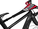 ROCK BROS Bike Sweat Guard with Phone Pouch Bicycle Trainer Sweat Net Catcher Absorbs Sweat Mountain Bike Frame Protector Cover for Indoor Road Mountain Bike Training