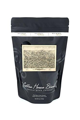 Peabody, Massachusetts - (1877) - Panoramic Map (8oz Whole Bean Small Batch Artisan Coffee - Bold & Strong Medium Dark Roast w/ - Map 1877 Massachusetts